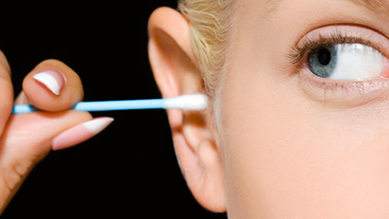 It turns out that you cannot brush your ears with cotton buds