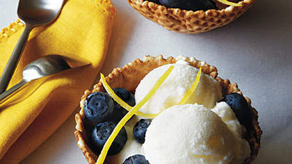 <p>Lemon-Buttermilk Ice Cream</p>
