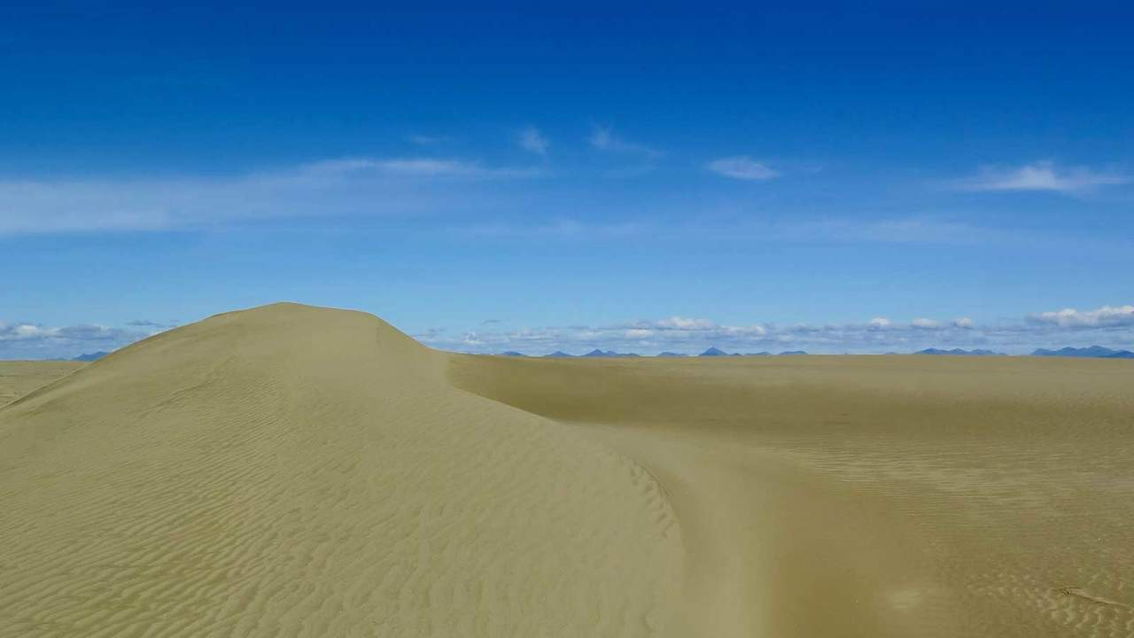 Years of grinding from ancient glaciers at Kobuk Valley National Park have filled the park with a variety of dunes that cover its southern portion.