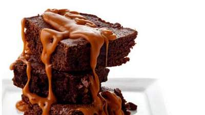 Brownies with Butterscotch Drizzle