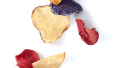 Colorful potato chips