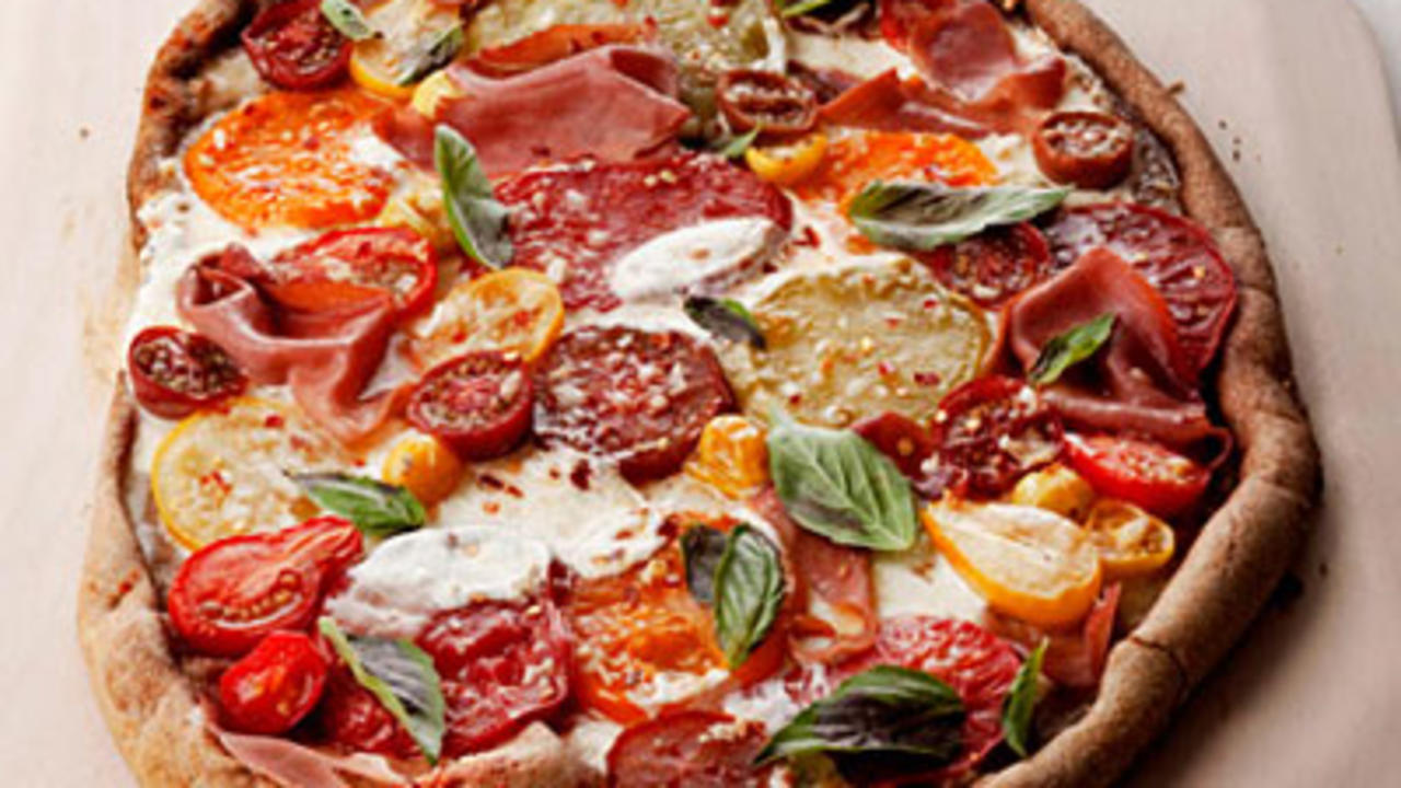 Easy pizza recipes health basil tomato pizza forumfinder Images