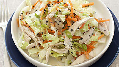 Chinese ChickenCabbage Salad With Peanut Sauce