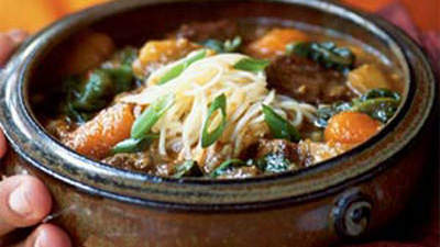 Chinese Hot Pot of Beef and Vegetables