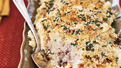 Parmesan and Chive Potato Gratin