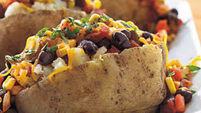 Black-Bean-and-Corn-Topped Potatoes