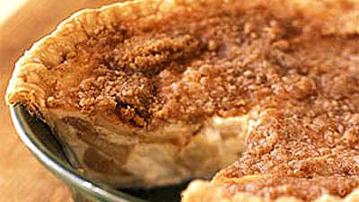 Warm AppleButtermilk Custard Pie