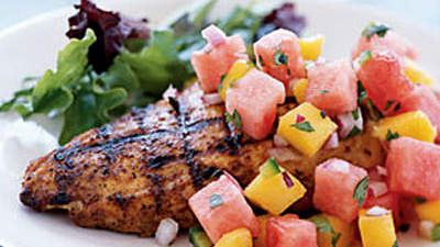 grilled-chicken-melon