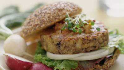 Smoked Cheddar and Lentil Burgers