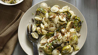 Orecchiette With Brussels Sprouts and Hazelnuts