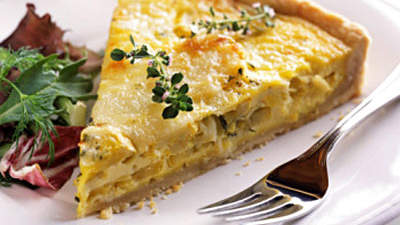 Quiche With Leeks and Baby Potatoes