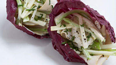 Turkey-and-Swiss Radicchio Cups