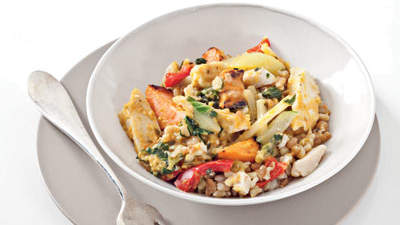 12. Figure-friendly frozen dinner: Kashi All Natural Red Curry Chicken Frozen Entrée