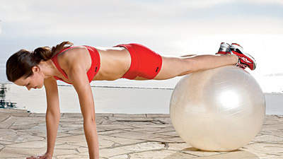 On-the-Ball Plank