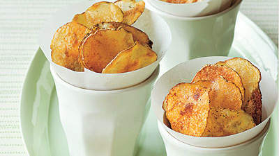 Smoky Oven-Baked Potato Chips