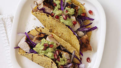chicken-pomegranate-guac-tacos