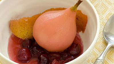 cranberry-poached-pears