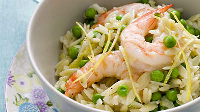orzo-shrimp-peas