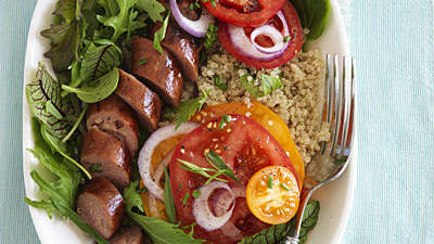 tomato-sausage-salad-quinoa-recipes