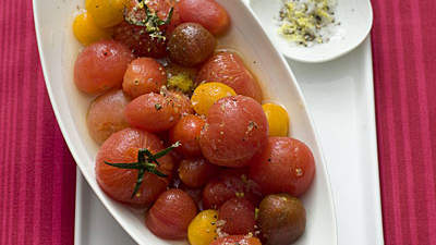 VodkaSpiked Tomatoes With Lemon Salt