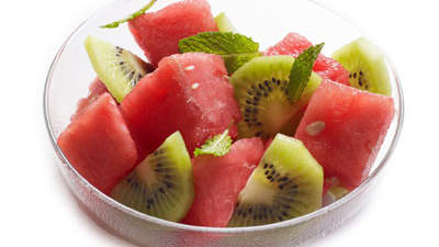 Watermelon, Kiwifruit, and Mint Salad