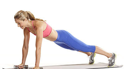 Abs & back: Dumbbell plank