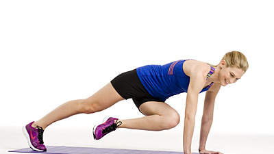 Upper body: Caterpillar plank