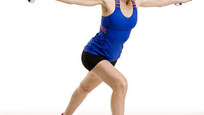 Upper body: Lunge with fly and curl