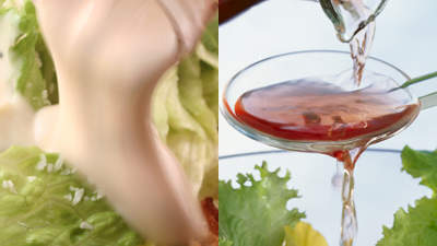 Vinegar and lemon juice beats salad dressing