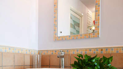 Put a small bouquet of fresh flowers                      in your bathroom