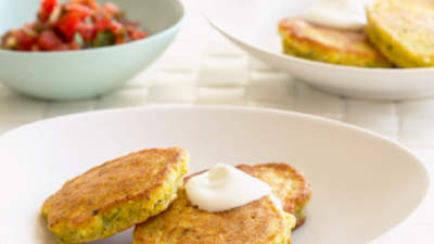 Savory Buttermilk Corn Cakes