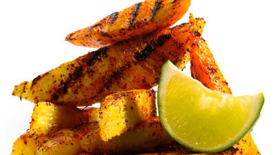 Sweet: Chili-Dusted Grilled Mango and Pineapple