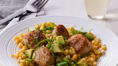 corn-avocado-scallions-spiced-scallops