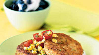 Crab Cakes With Fresh-Corn Salsa