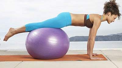 Plank on the ball