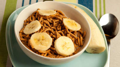 Fiber One cereal and half a banana