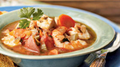 Lunch: Southwest Cilantro Fish Stew