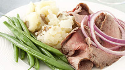 Flank Steak With Mashed Potatoes recipe