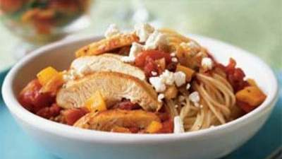 Greek Chicken With Angel Hair Pasta