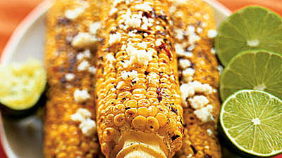 Grilled Corn with Chipotle Butter