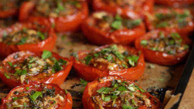 Grilled Rosemary Plum Tomatoes