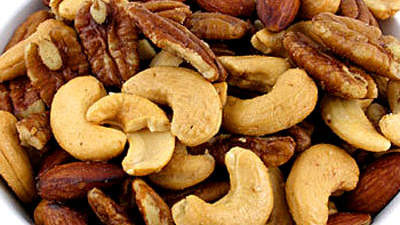Mixed, dryroasted nuts (1 cup)