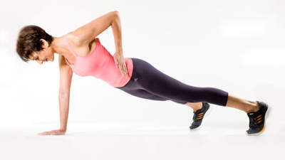 Core: Plank with Elbow Lift