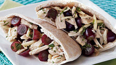 Red Grape and Tuna Salad Pita