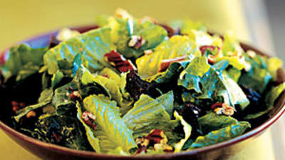 Salad: Mixed Greens With Dried Plums and Toasted Pecans