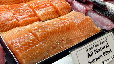 Imported Atlantic salmon