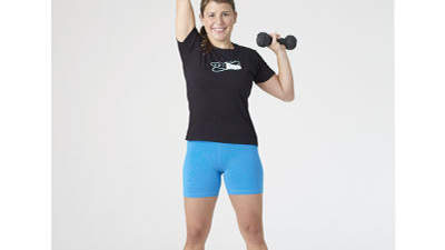 Dumbbell alternating shoulder press