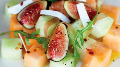 Summer Melon with Fig and Prosciutto