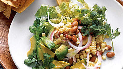 Cool Southwestern Salad with Corn and Avocado