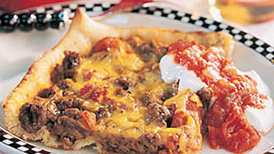 Deep-Dish Taco Pizza
